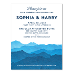 Blue Mountain Rehearsal Dinner Invitations