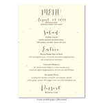 Seeded Paper Wedding Menus ~ Organic