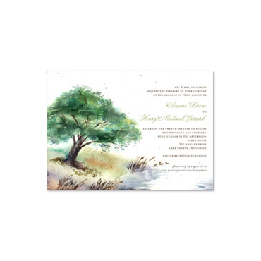 Lake Wedding Invitations on seeded paper