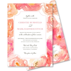 Peonies Wedding Invitations on plantable paper | Peony Heaven