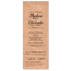 Kraft Paper Wedding Invitations ~ Simply Kraft (100% recycled paper)