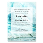 Surf Wedding Invitations watercolor - Santa Cruz Surf by ForeverFiances