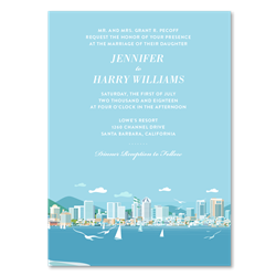 Lovely ... San Diego Skyline Wedding Invitations On Premium 100% Recycled Paper