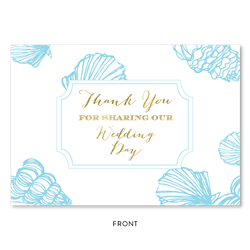 Sea Shell Thank you cards Greeting by ForeverFiances