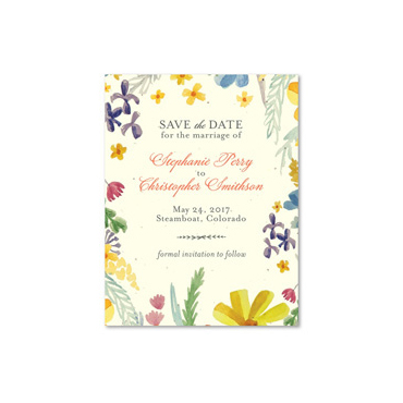 Wildflowers Summer Save the Date Cards | Summer Stories