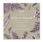 Rustic Ferns Wedding Invitations | Timeless Ferns Square