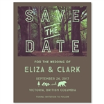 Forest Wedding Save the Date | Woodland