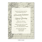 World Map Wedding Invitations on premium vintage 100 recycled paper