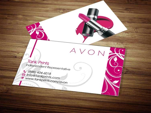 avon business cards vistaprint