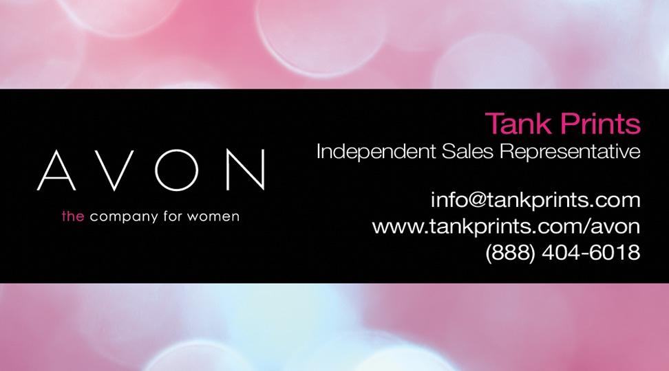 Avon Business Card Design 4 Avon Independent Sales Representative