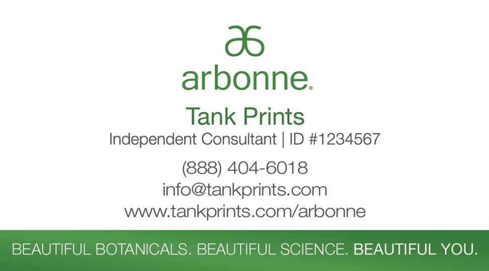 Arbonne Business Card Logo