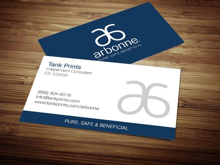 arbonne business card design 6