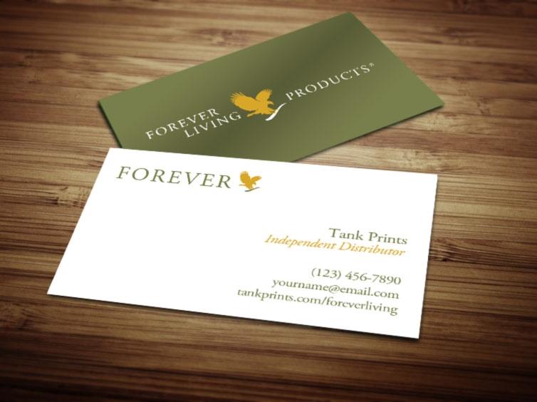 Forever Living business card design 2 - Tank Prints