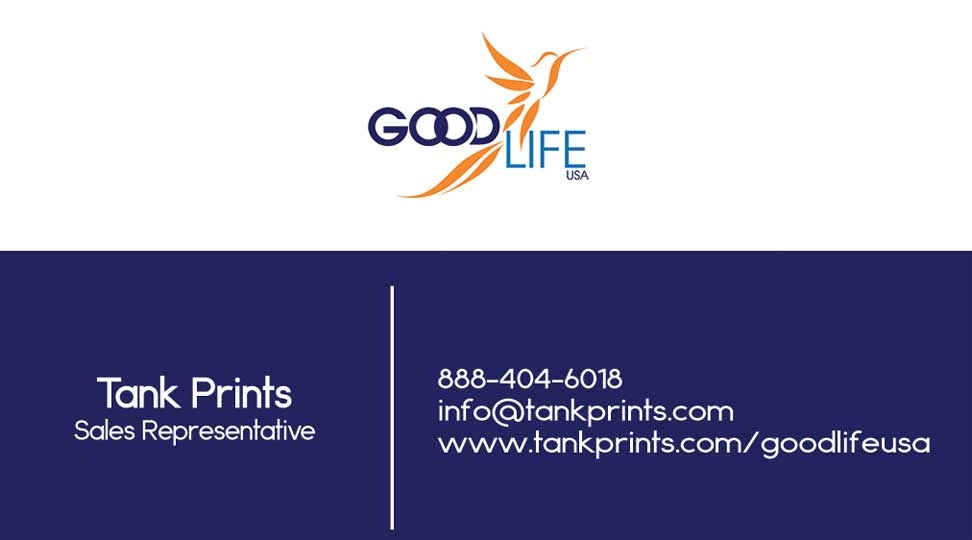 GoodLife USA Business Card 2 Tank Prints