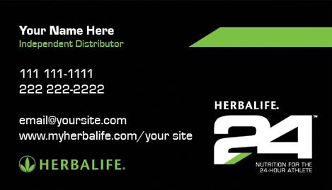 Herbalife 24 Business Card Design 2 Custom 2