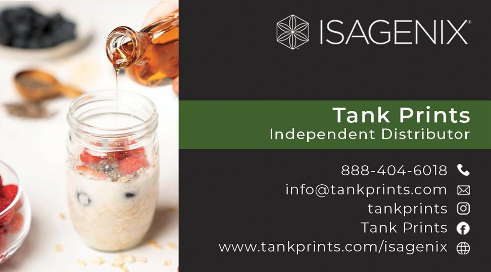 Isagenix Business Card Design 1