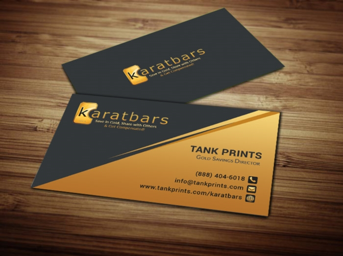 KaratBars Business Cards : Tank Prints