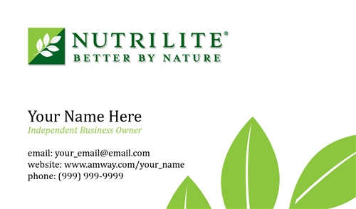 Nutrilite Business Card Design 1
