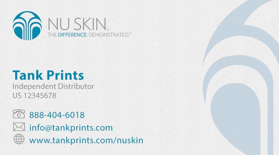 nu skin business card design 3