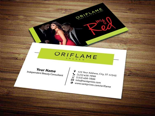 Oriflame Business Card Design 3