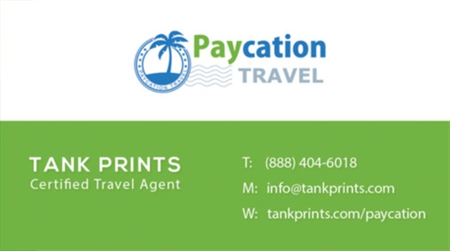 Paycation business card 1 tank prints for Paycation business cards