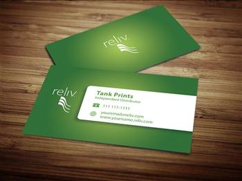 Reliv business card design 3