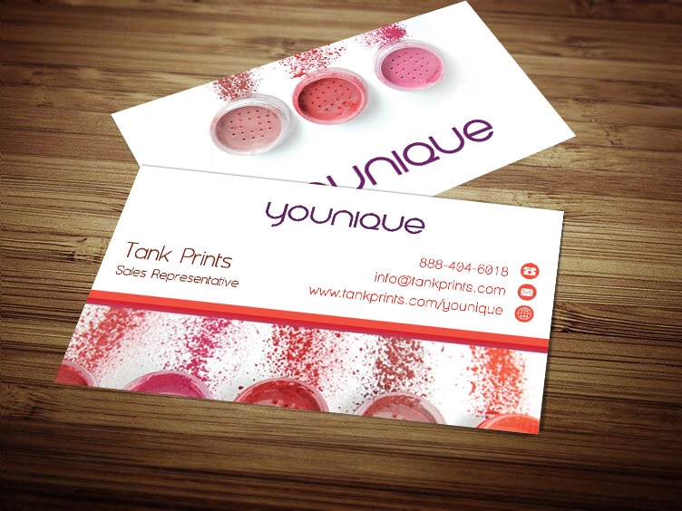 younique business cards tank prints. Black Bedroom Furniture Sets. Home Design Ideas