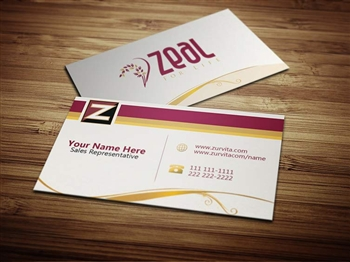 zurvita business card 1