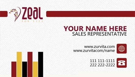 Zeal for life business cards