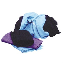 T-20044: 25 LB. Box Assorted Cotton Rags