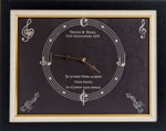 Slate clock personalised for music lovers