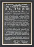 1916 Irish Proclamation painted on slate by Artist Morgan nic Iomhair
