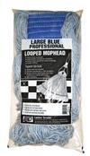 Lanier Large Blue Professional Looped Mophead 113-LOOPED-BB