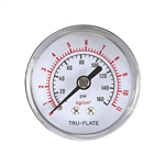 Tru-Flate Air Line Gauge Polycarbonate 1/4 in. NPT 24-803
