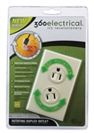 360 Electrical Rotating Duplex Outlet 36011-V