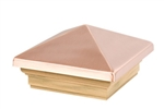 Waddell 4 X 4 Inch Copper Pyramid Post Cap 220