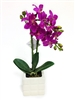 13 Inch Orchid Real Touch Artificial Flower Arrangement