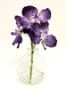 8 Inch Blue Vanda Orchid Real Touch Artificial Flower Arrangement