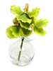 8 Inch Green Vanda Orchid Real Touch Artificial Flower Arrangement