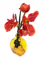 10 Inch Orange Phalaenopsis Orchid Real Touch Artificial Flower Arrangement