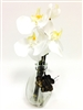 10 Inch White Phalaenopsis Orchid Silk Flower Arrangement