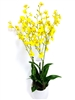 "28"" Oncidium Silk Flower Arrangement - Hard Plastic Vase"