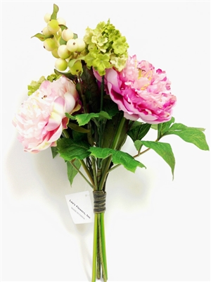 Real Touch Lau's Flowers Artificial Flower Peony Bouquet
