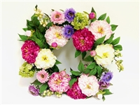 Real Touch Lau's Flowers Artificial Flower Peony Wreath