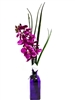 "21"" Purple Phalaenopsis Orchid Real Touch Artificial Flower Arrangement - Glass Vase"