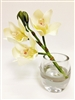 White Cymbidium Orchid Real Touch Artificial Flower