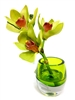 "6"" Green Cymbidium Orchid Real Touch Artificial Flower"