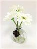 White Gerbera Silk Flower