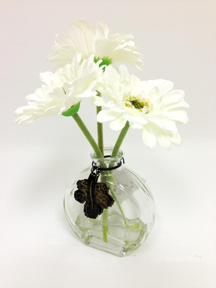 9 white gerbera silk flower arrangement white gerbera silk flower mightylinksfo