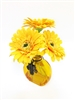 9 inch Yellow Gerbera Silk Flower